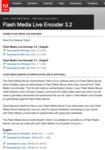 Flash Media Live Encoder #03